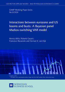 Interactions between eurozone and US booms and busts: A