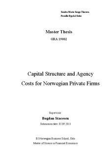 relationship between capital structure and financial performance